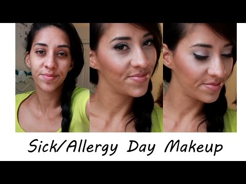 Sick/Allergy Day Makeup Go-To Look (GRWM)
