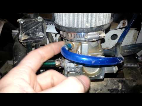 Modifying A Briggs Opposed Twin Carb