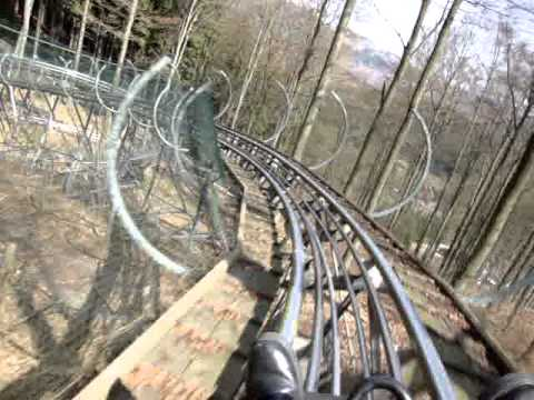Trapper Slider POV German Alpine Coaster Roller Coaster Fort Fun Amusement Park Germany