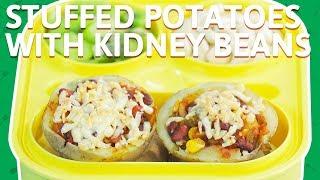 Cheese Stuffed Potatoes Balls | Potatoes With Corn & Kidney Beans | Baked Potato Recipe For Kids