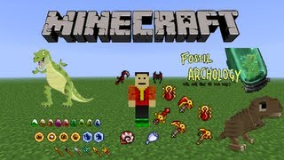 Minecraft 1.2.5 - Fossil and Archeology Mod