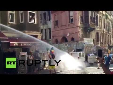 Love Wins? Riot police use water cannons to break up LGBT parade in Turkey