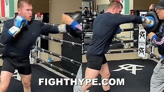 (WOW! ) CANELO HITTING LIKE A MACK TRUCK; ALREADY BACK IN GYM TRAINING FOR NEXT 160-175 CHALLENGE