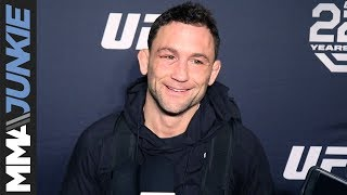 Frankie Edgar with signed contract in hand, ready to get to work for Max Holloway