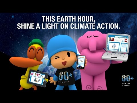 Pocoyo & Earth Hour 2016 - Shine a light on climate action - March 19th
