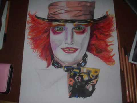 Johnny Depp mad hatter drawing. 2189 shouts