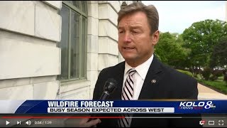 KOLO 8 Reports On Heller's Efforts to Fight Wildfires