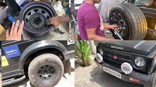 My Gypsy's Tire Got Offroading Steel Rims | Modified Maruti Gypsy | Musafir's Gypsy