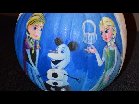 "Halloween Cast Member Pumpkin Decorating at Disney's Art of Animation Resort, Including ""Frozen"""