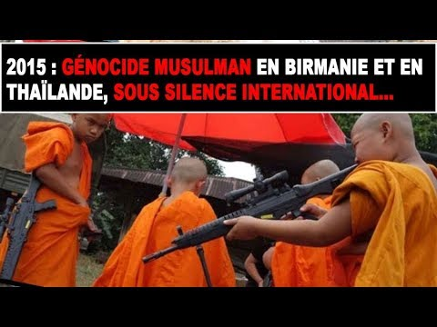 BIRMANIE GENOCIDE SUR LES MUSULMANS PAR LES BOUDHISTES WIRATHU LE MANIPULATEUR MENTEUR ?!?! part 2/2
