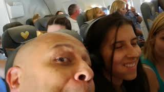Turbulence on Kos flight Thomas Cook 2017
