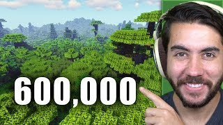 I Planted 600,000 Trees In Minecraft #TeamTrees