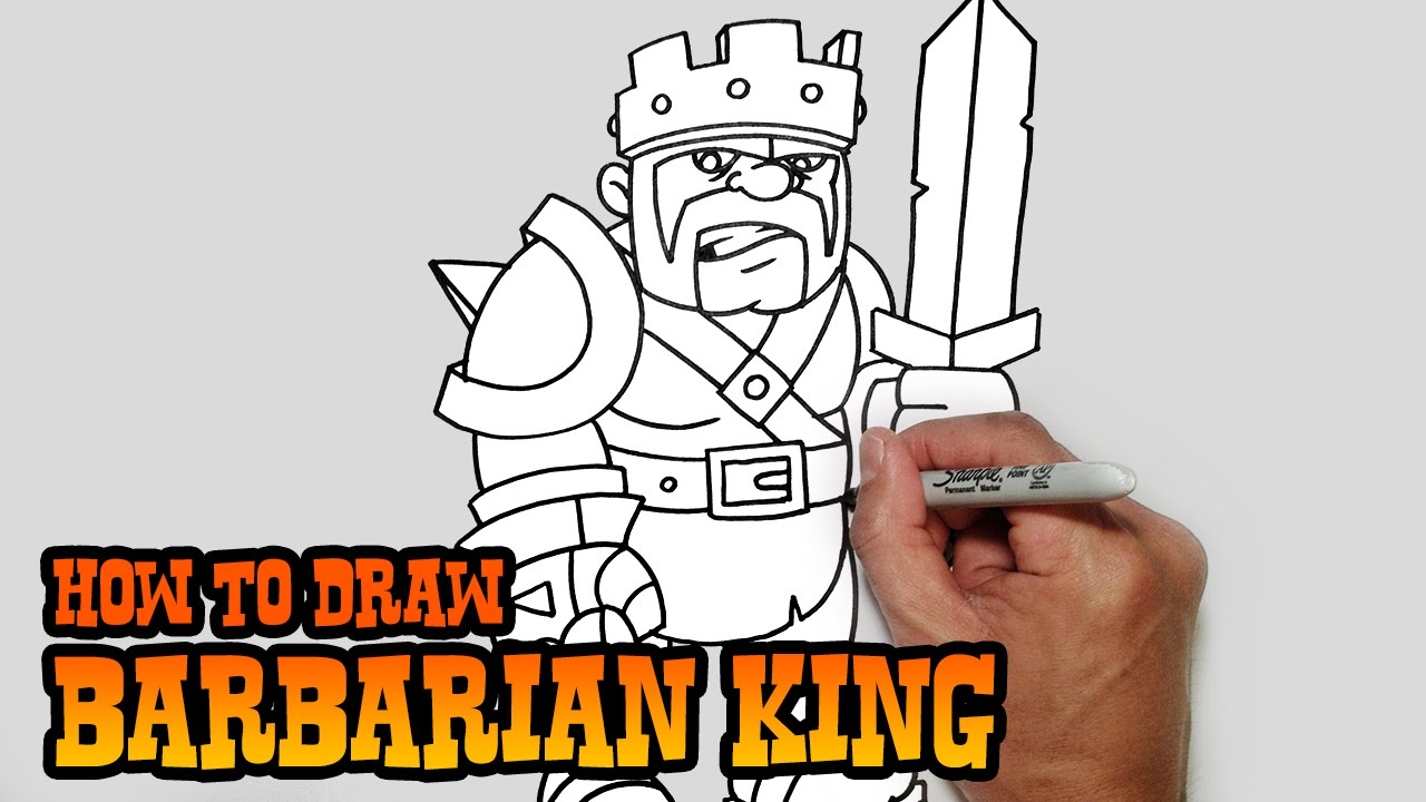 Swords Clashing Drawing How to Draw Barbarian King