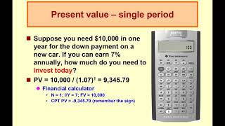 Corporate Finance - FIN 3610 - Time Value of Money