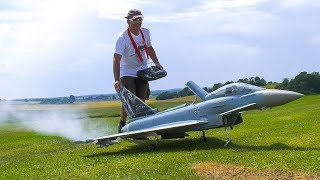 AMAZING RC MODEL SCALE AIRPLANE / JET EUROFIGHTER TYPHOON IN DEMO FLIGHT!!
