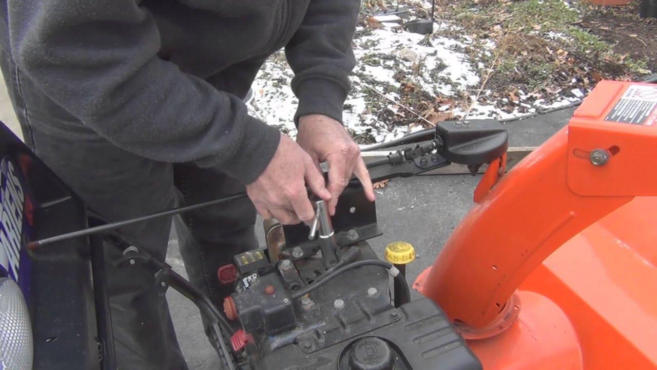 tecumseh engine wiring ariens snowblower maintenance youtube  ariens snowblower maintenance youtube