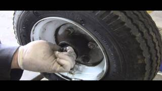 How to Grease / Pack Trailer Wheel Bearings : Trailer-In-A-Bag Example
