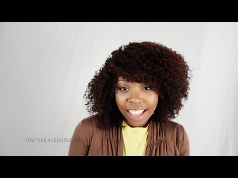 Latch Hook Crotchet Braids on Virgin Natural Hair Tutorial Finished Results Part 5