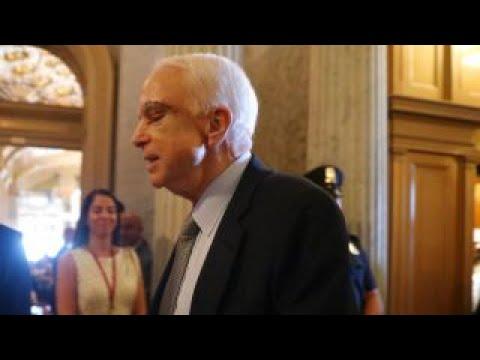 Sen. John McCain returns to cast health care vote