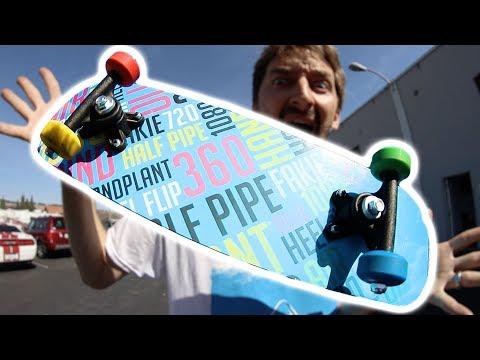 SUPER TINY SKATEBOARD WITH SUPER TINY WHEELS!
