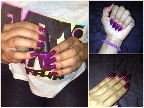 DIY: Stiletto nails on natural nails!