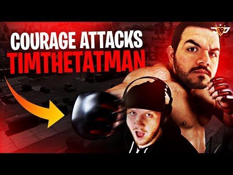 COURAGE ATTACKS TIMTHETATMAN! NINJA NEW YEARS AFTER DARK! (Fortnite: Battle Royale)