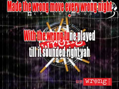 Depeche Mode - Wrong (karaoke)