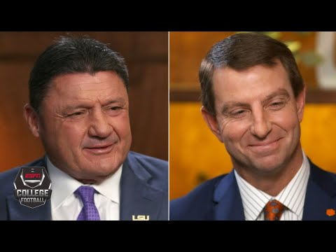 Ed Orgeron and Dabo Swinney exclusive ESPN interview   College Football Playoff