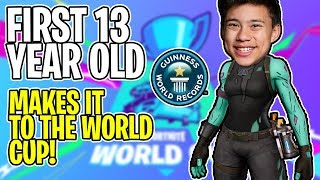 I'm One of the First 13 YEAR OLDS In Fortnite WORLD CUP?!