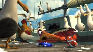 """Le Monde de Nemo 3D de Disney - Extrait du dessin animé """"Le pélican sauveur"""""""
