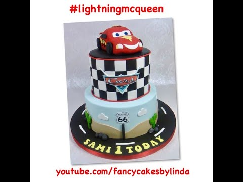 , Fondant Cars Cake Lightning McQueen  How To Make & Do Everything