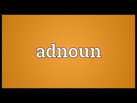 Header of Adnoun