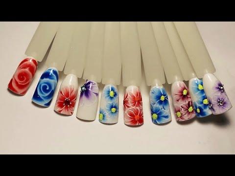 Дизайн ногтей по жидкому лаку