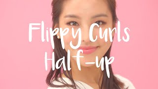 Flippy Curls Half-up Hairstyle Tutorial | Panasonic Styling Brush Iron EH-HT40