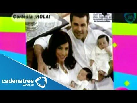 Eduardo Capetillo y Bibi Gaytán presentan a sus mellizos