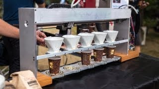 World Maker Faire 2013: Pour Steady Coffee Brewing Robot