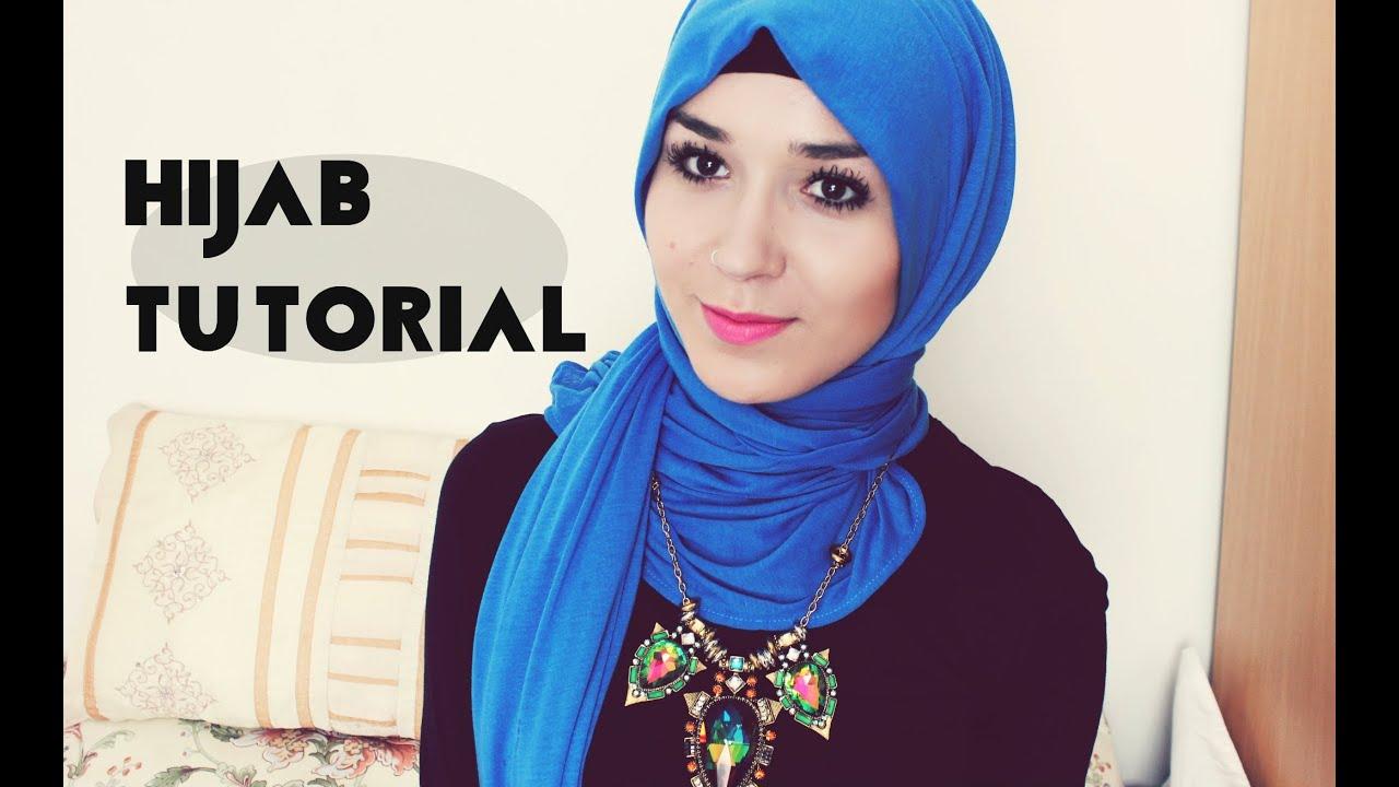 hijab tutorial l jersey scarf youtube