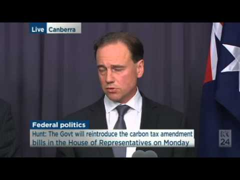 Eric Abetz & Greg Hunt are confident of repealing carbon tax next week