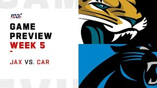 Jacksonville Jaguars vs. Carolina Panthers Week 5 NFL Game Preview