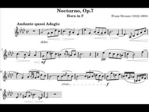Franz Straus Nocturno Op.7 for Horn (Audio)