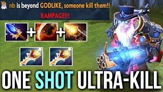 ONE SHOT ULTRA KILL! Sniper 2 Rapiers Scepter & Bloodrage Troll Build by Mski.nb 8k vs Pub Dota 2