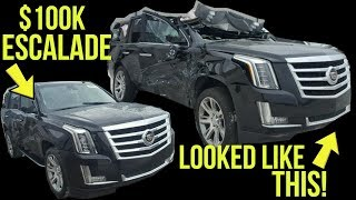 Here's Why This Destroyed Cadillac Escalade Was Rebuilt (Not A Good Reason)