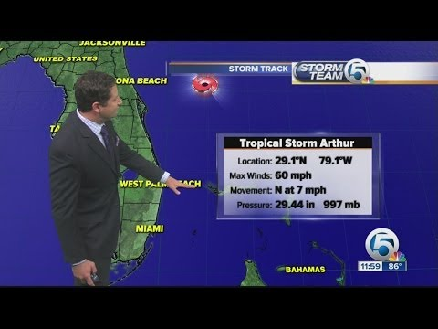 Arthur expected to strengthen to hurricane