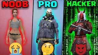 FREE FIRE - NOOB vs PRO vs HACKER | Kurko