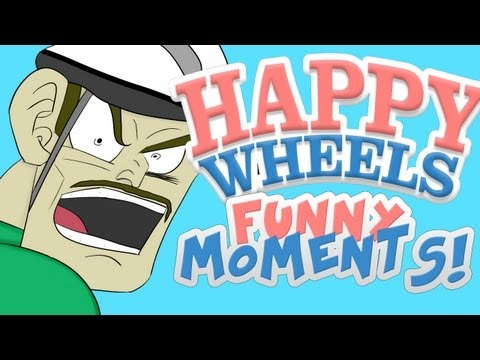 HAPPY WHEELS - FUNNY MOMENTS MONTAGE #3