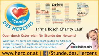 Bösch Charity Lauf quer durch Österreich für Stunde des Herzens