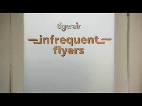 Welcome to the Tigerair Infrequent Flyer Club. We don't have a lounge. But you have one of those at home. What you don't have, is one of eighteen member card...