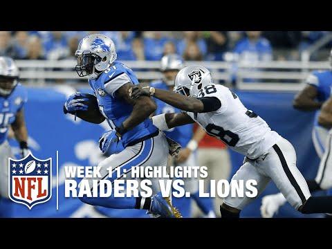 Raiders Vs Lions Week 11 Highlights Nfl
