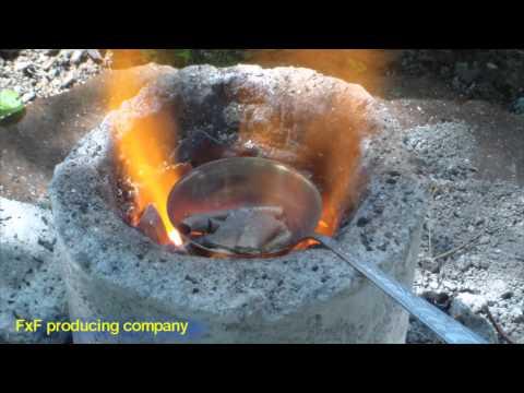 Как в домашних условиях плавить металл в 900