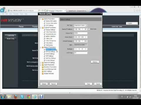 CCTV. Hikvision. DVR. Configuración Visualización Remota